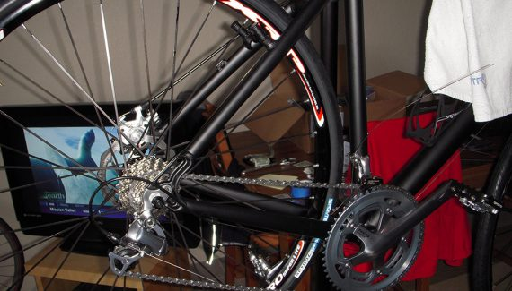 Running the cable to the rear derailleur