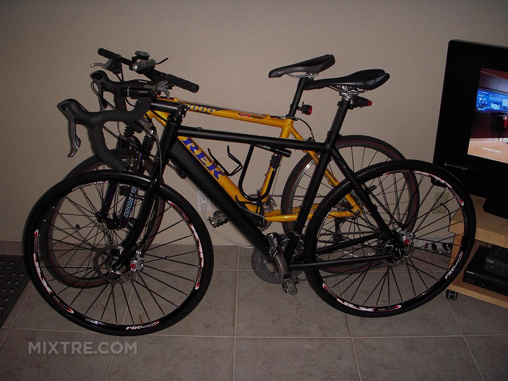 custom cross bike and Trek 7000