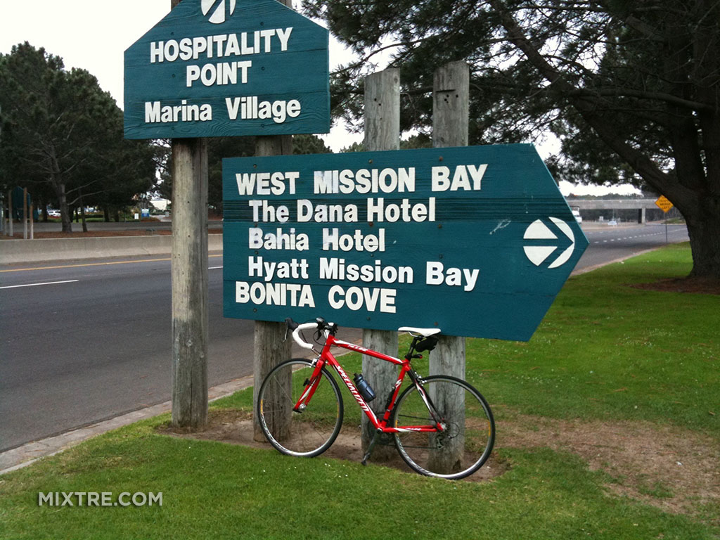 Signage around Mission Bay