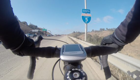 cycling on the freeway
